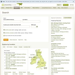 UK- Ancestry.comSearch Historical Records
