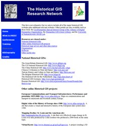 Historical GIS Research Network