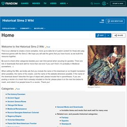 Historical Sims 2 Wiki