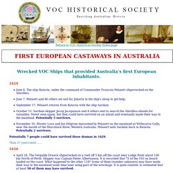 VOC Historical Society - First settlers