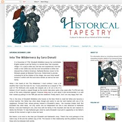 Historical Tapestry: Into The Wilderness by Sara Donati