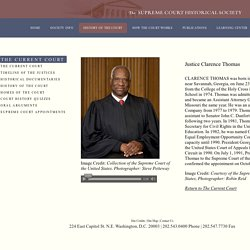 The Supreme Court Historical Society - Timeline of the Court - Justice Clarence Thomas