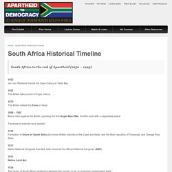 Apartheid to Democracy: 20 Years of Transition in South Africa