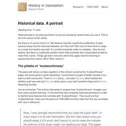 Historical data. A portrait – History in translation – Mateusz Fafinski