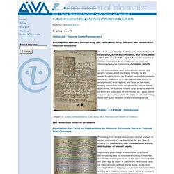 A. Garz: Document Image Analysis of Historical Documents