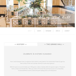 The Grand Hall – Historical Wedding Venues in Kansas City