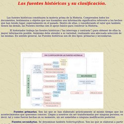 Las fuentes históricas y su clasificación