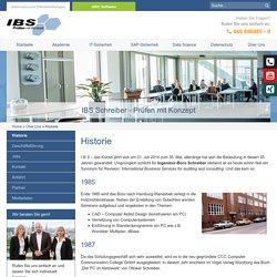 Historie - IBS Schreiber GmbH