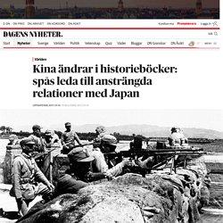 Kina ändrar i historieböcker: spås leda till ansträngda relationer med Japan