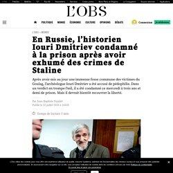 En Russie, l'historien Iouri Dmitriev condamné à la prison après avoir exhumé des crimes de Staline