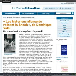 Extrait de « Les historiens allemands relisent la Shoah »