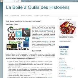 Quel réseau social pour les chercheurs en histoire ?