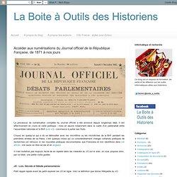 Accéder aux numérisations du Journal officiel de la République française, de 1871 à nos jours