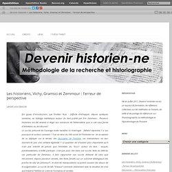 Les historiens, Vichy, Gramsci et Zemmour : l'erreur de perspective