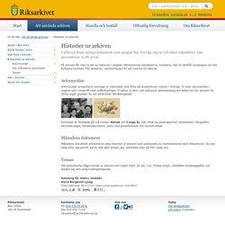 Historier ur arkiven - Riksarkivet