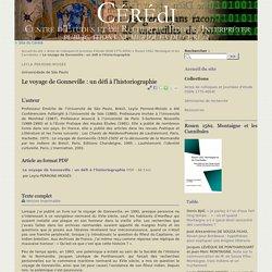 Le voyage de Gonneville : un défi à l'historiographie - Publications numériques du CÉRÉdI