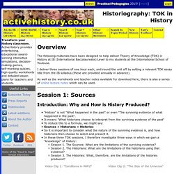 Historiography: TOK in History