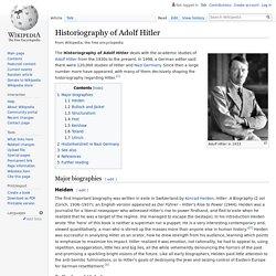 Historiography of Adolf Hitler