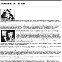 Historique du 1er mai