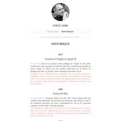 Historique : Steve Jobs - actualités d'Apple et l'univers Mac