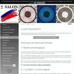 Historique - Le Salon des Artistes Français