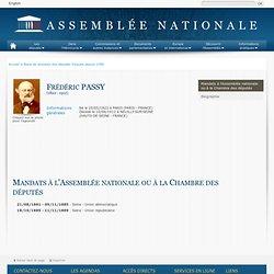 Base de données historique des anciens députés