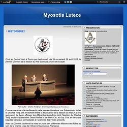 28/04/2012 HISTORIQUE dixit Réseau Myosotis