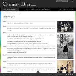 Historique - Profil du Groupe - Christian Dior Finance