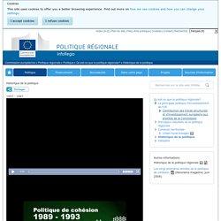 Historique de la politique - Politique régionale - Commission européenne