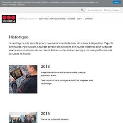 Historique de Securitas en France - Securitas