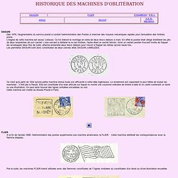 HISTORIQUE DES MACHINES D