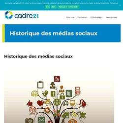 Historique des médias sociaux