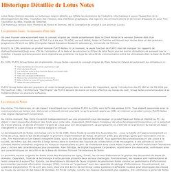 Historique détaillé de Lotus Notes