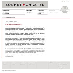 Historique des éditions Buchet/Chastel