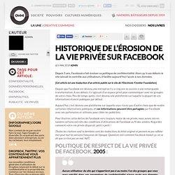 digital journalism » Article » Historique de l'érosion de la vie