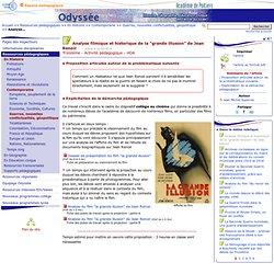 """Analyse filmique et historique de la """"grande illusion"""" de Jean Renoir- Odyssée: Histoire Géographie Éducation civique"""