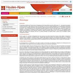 Historique des Hautes-Alpes - Département des Hautes-Alpes