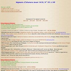 Parcours et historique des Régiments d'Infanterie durant 14 18