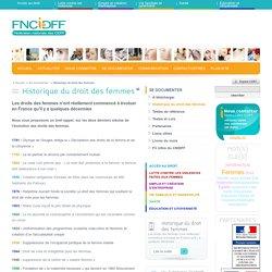 Historique du droit des femmes - Info femmes : CNIDFF - Centre National d'Information sur les Droits des Femmes et des Familles - Le réflexe égalité