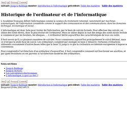 Historique de l'ordinateur et de l'informatique