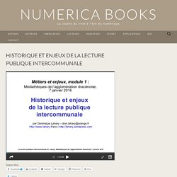 Historique et enjeux de la lecture publique intercommunale