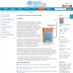 Règlement sanitaire international (RSI)