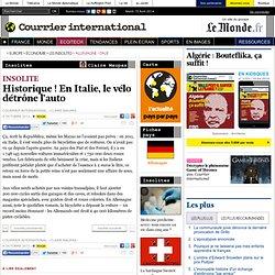 Historique ! En Italie, le vélo détrône l'auto