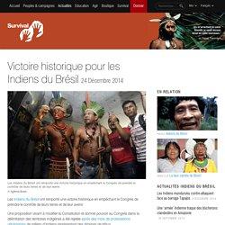 Victoire historique pour les Indiens du Brésil