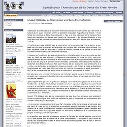 L'appel historique de Chavez pour une 5eme Internationale