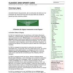 Historique Jaguar - CLASSIC AND SPORT CARS