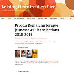 Prix du Roman historique jeunesse 41 : les sélections 2018-2019
