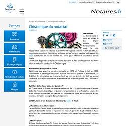 Historique du notariat