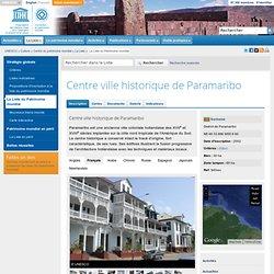 Centre ville historique de Paramaribo