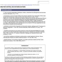 CHAN Centre historique des Archives nationales ParisUntitled Document
